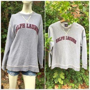 VTG Polo Ralph Lauren Gray Pullover Sweatshirt